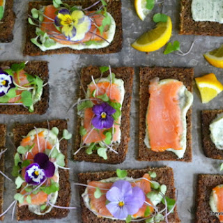 Nordic Open Faced Smoked Salmon Sandwiches.