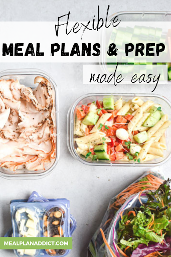 How to do Flexible Meal Planning and Prep {no stress, no cooking all Sunday!}