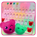 Kawaii Fluffy Teddy Bear Keyboard Theme icon