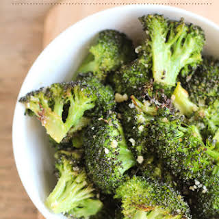 Roasted Garlic Parmesan Broccoli.