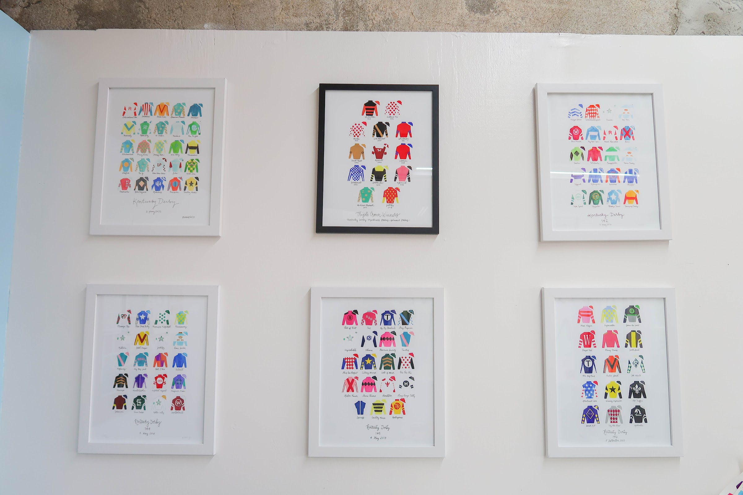 Katie Wampler: 6 Jockey Prints on Wall