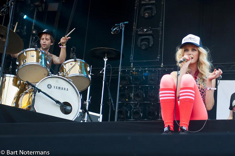 Photo: Asteroids Galaxy Tour op Pinkpop 2012