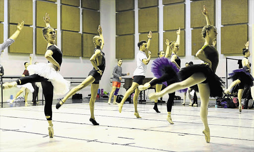 LOWERING THE BARRE: Cape Town City Ballet dancers rehearse at the Artscape Theatre after being told they were no longer welcome at the University of Cape Town.