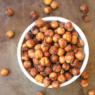 Garlic and Herb Air-Fryer Roasted Chickpeas.