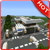 Modern Village Map For MCPE