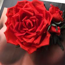 Photo: Заколка для волос,шелковая роза..
