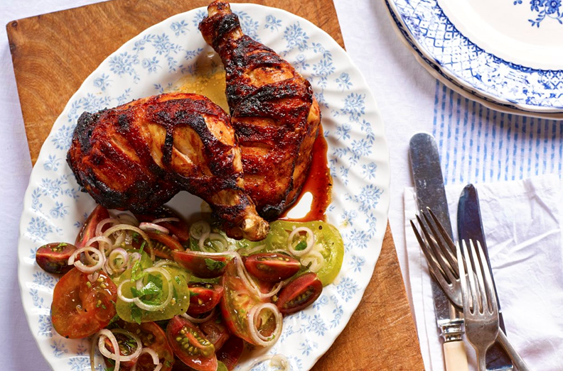 10. Paprika roast chicken with crispy potato rosti
