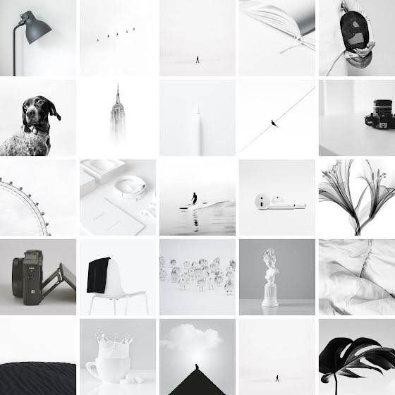 Monochromatic Collage - Instagram Carousel Ad Template