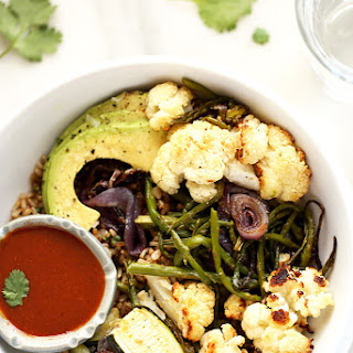 Roasted Vegetable Rainbow Bowl with Tangy BBQ Sauce Recipe
