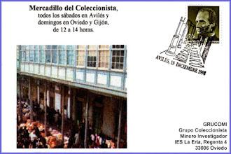 Photo: Matasellos dedicado al mercadillo filatélico en Aviles 1998