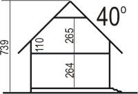 Domek Prosty szkielet drewniany 009SK - Przekrój