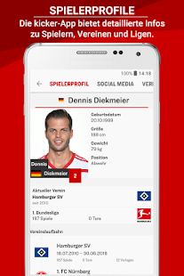 kicker - Fußball News Screenshot