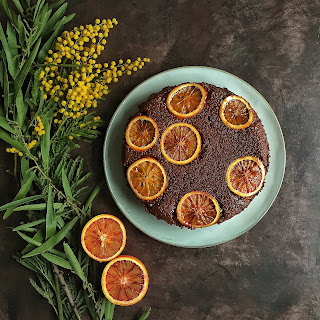 Blood Orange, Chocolate & Chili Upside-Down Cake