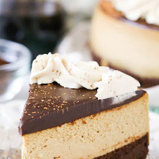 Kahlua Coffee Brownie Cheesecake.