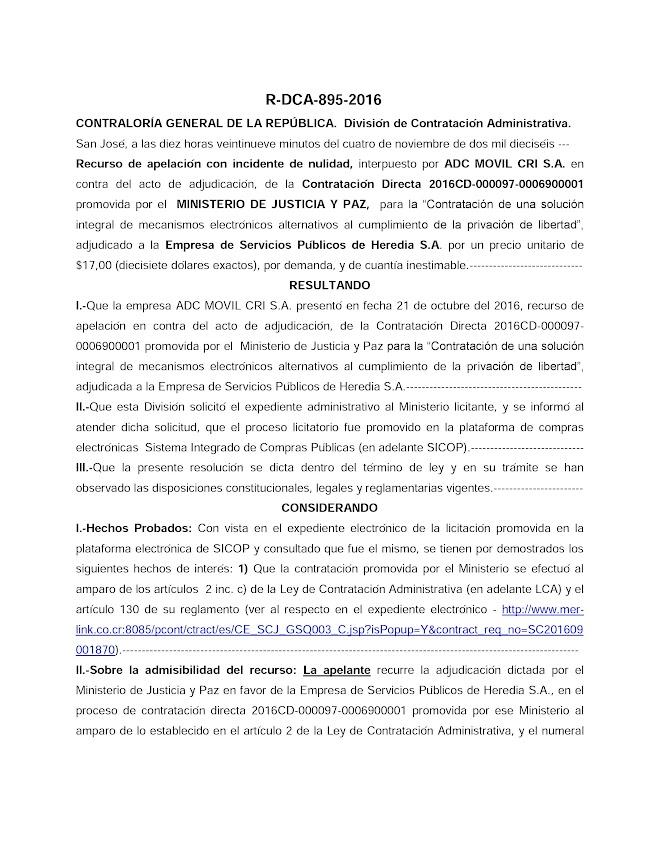 CONTRALORÍA GENERAL DE LA REPÚBLICA RECHAZA RECURSO QUE CUESTIONÓ ADJUDICACIÓN DE BRAZALETES
