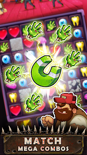 Zombie Puzzle – Match 3 RPG Puzzle Game MOD APK [1 HitKill] 2