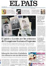 Photo: El juicio a Garzón por los crímenes del franquismo, los cambios en Ciudadanía y la 'tasa Tobin' en Francia, en portada http://www.elpais.com/static/misc/portada20120201.pdf