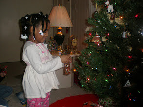 Photo: decorating the tree