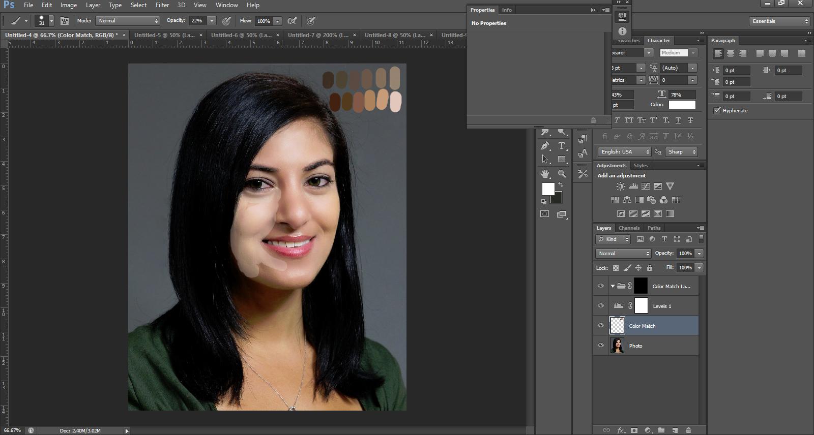 skin tone photoshop
