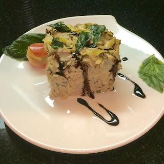 Forking Non-Traditional Italian Inspired Tuna Noodle Casserole.