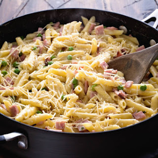 One Pot Ham & Penne Skillet