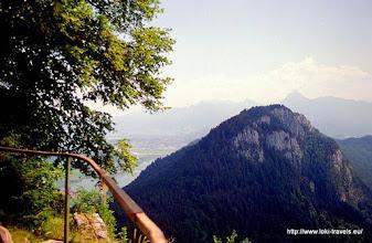 Photo: Ruïne Falkenstein. Uitzicht over Oostenrijk.