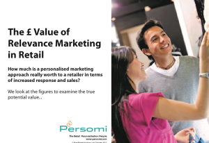 The £ Value of Relevance in Marketing