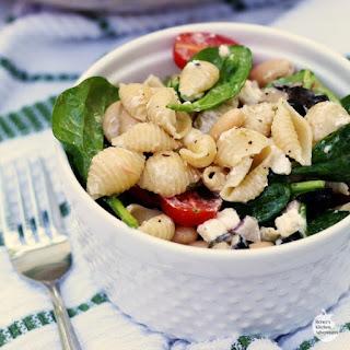 Spinach, Feta, and Bean Pasta Salad.