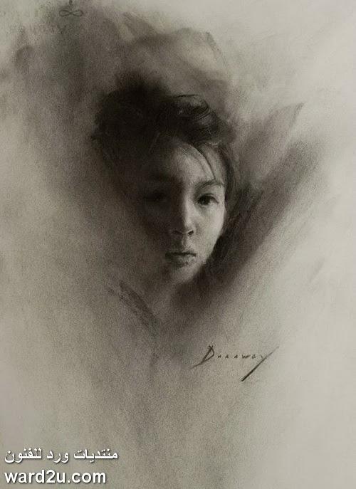 اسكتشات و لوحات الفنانة الامريكية Michelle Dunaway