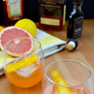 Fresh Citrus, Aperol & Bourbon Cocktail.