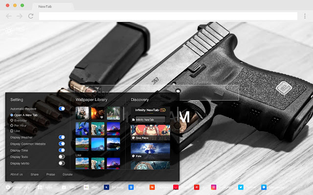 Guns Popular weapons HD New Tabs Themes
