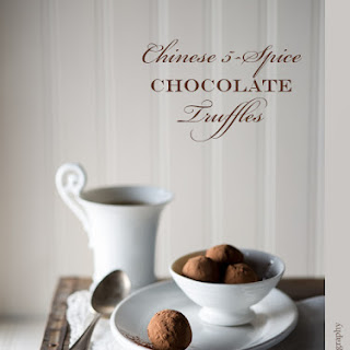 Chinese 5-Spice Chocolate Truffles with Crystallized Ginger