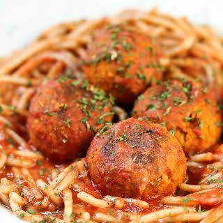 Homemade Italian Vegan Balls.