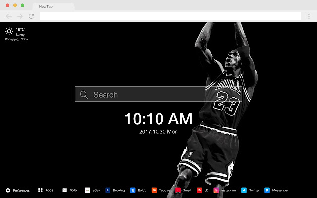 Michael Jordan HD Basketball New Tabs Theme