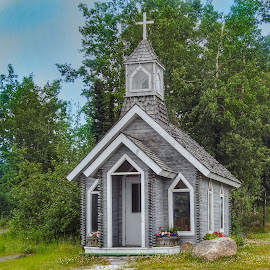 Teeny Tiny Chapel by Patricia Phillips - Buildings & Architecture Places of Worship ( churches chapels tiny soldotna alaska )