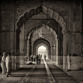 Jama Masjid Mosque by Rafael Uy - City,  Street & Park  Street Scenes ( jama masjid mosque, mosque, new delhi, india, jama masjid )