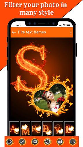 Fire Text Photo Frame u2013 New Fire Photo Editor 2020 1.33 screenshots 5