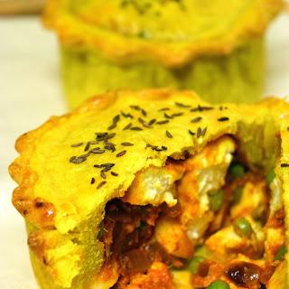 Paneer & Pea Pies With Turmeric Crust