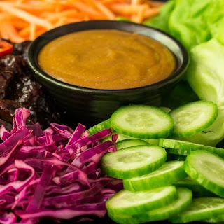 Vietnamese Caramel Pork Lettuce Wraps.