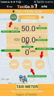 TaxiGo Lanka Customer's App - náhled
