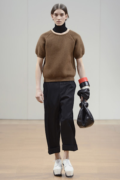 Photo: LOOK THIRTY THREE J.W.ANDERSON AW 2014 MENS SHOW http://www.j-w-anderson.com/1/fall-2014/collection.html