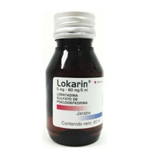 Loratadina + Pseudoefedrina Lokarin 5-60mg/5mL Biotech