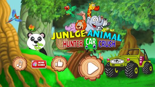 Jungle Animal Hunter Car Crush