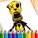 Coloring Bendy book's: Coloring Pages Game Free