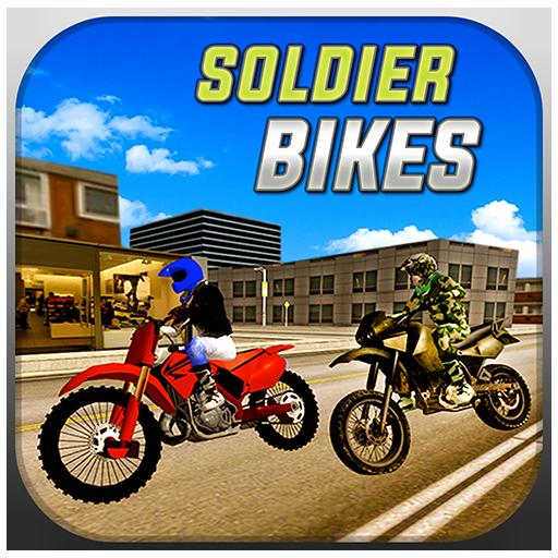 模擬App|シム運転のバイクに兵士 LOGO-3C達人阿輝的APP