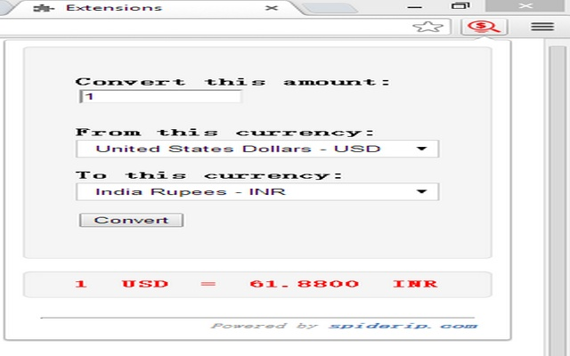 Convert currency