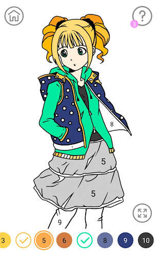Download Anime Color by Number - Anime Coloring Book on PC ...