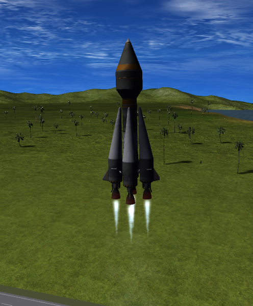 Vostok carrying Val to orbit
