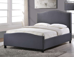 Stylish Fabric Bedstead in Grey Fabric
