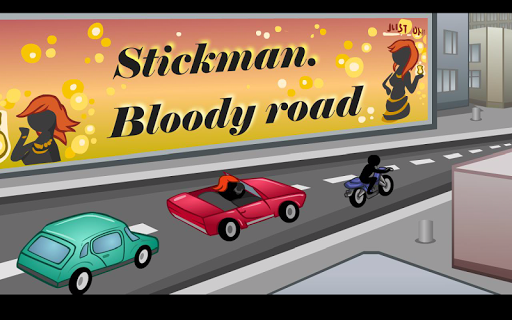 Stickman Bloody road